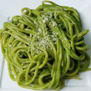 """Peruvian Pesto, also called, """"Tallarines Verdes"""" (green noodles), is a sauce portraying a beautiful hue of green so delicious and velvety, you can eat it by the spoonfuls."""