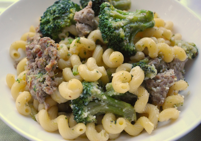 This Sausage with Broccoli and Pasta dish is quick, easy, hearty, and delicious. It's loaded with garlic and sweet Italian sausage mixed with pasta and Parmesan cheese. Enjoy! A KISS recipe - Keep It Short Simple!