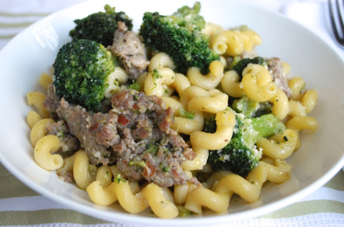 Sausage with Broccoli and Pasta