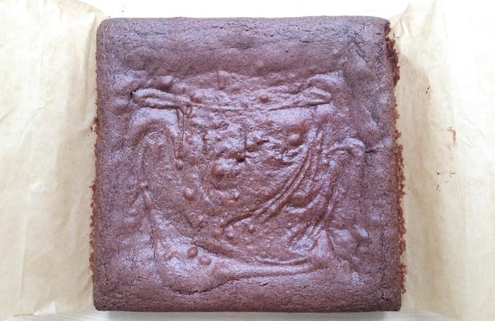 cooled brownies
