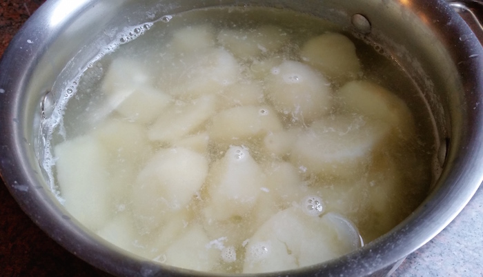 overboiled potatoes