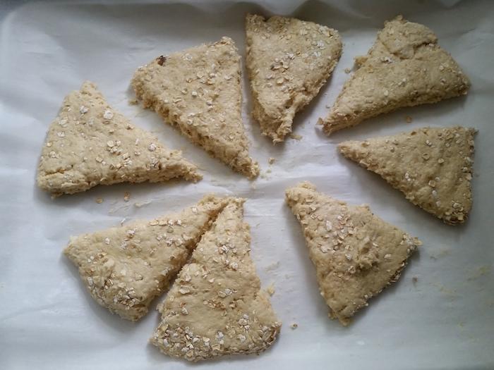 cut scone wedges