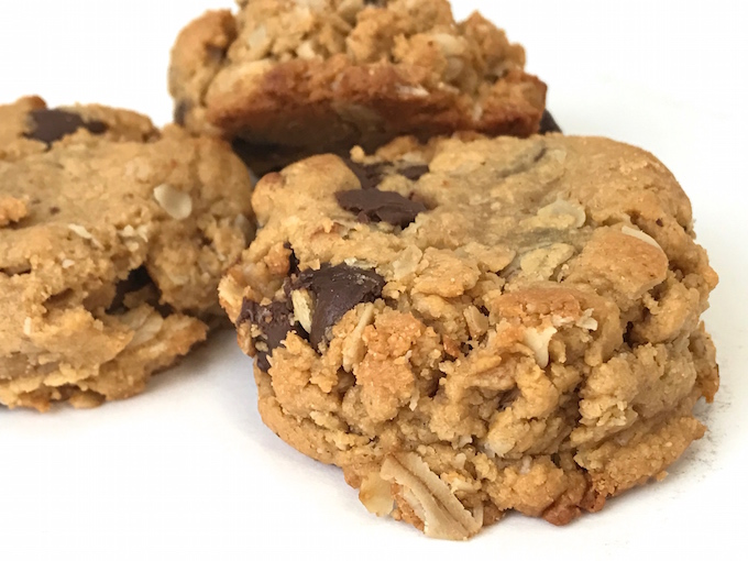 Crunchy on the outside and chewy on the inside, these are simply the Best Peanut Butter Oatmeal Chocolate Chip Cookies. Not only are these cookies delicious, they are gluten free. Peanut butter and chocolate chips all wrapped up in a delicious treat is a match made in heaven!