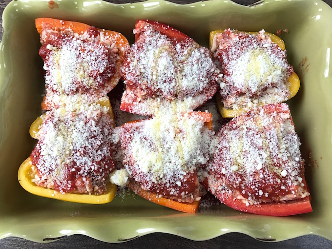 Italian Stuffed Peppers with Sausage and Mozzarella are loaded with flavor yet require little effort to prepare. Mix the ingredients in the bowl, stuff the peppers, top with sauce, sprinkle with cheese, bake, and serve. Part of my KISS recipes - Keep It Short Simple. Mangia!