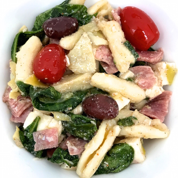 This easy Antipasto Pasta Salad is loaded with flavor offering different textures along with several variations of acidity which brighten the dish along with the palate. Paired with my simple vinaigrette, it's a hearty salad that's a meal in itself.