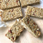 Honey Nut Granola Bars are crunchy, nutty, and sweetened just enough to hold together and taste delicious. Makes a perfect portable breakfast or snack.