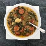 Bowl of Linguisa Kale Soup
