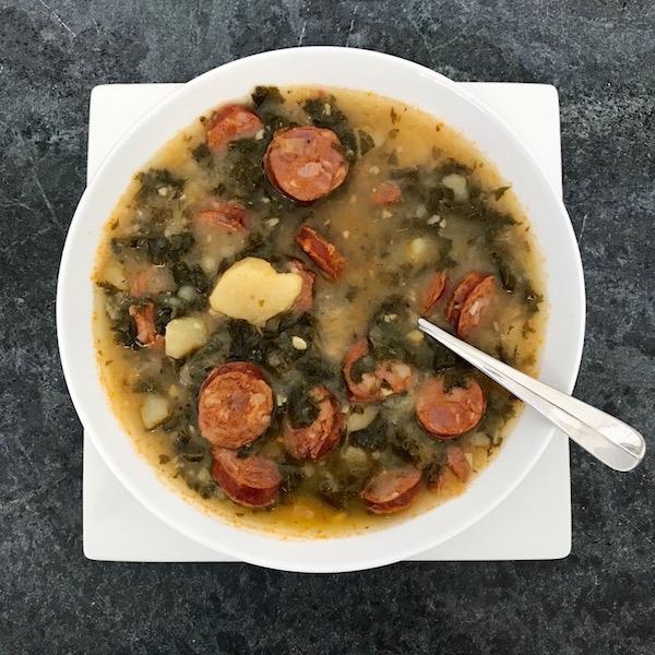 Linguisa Kale Soup
