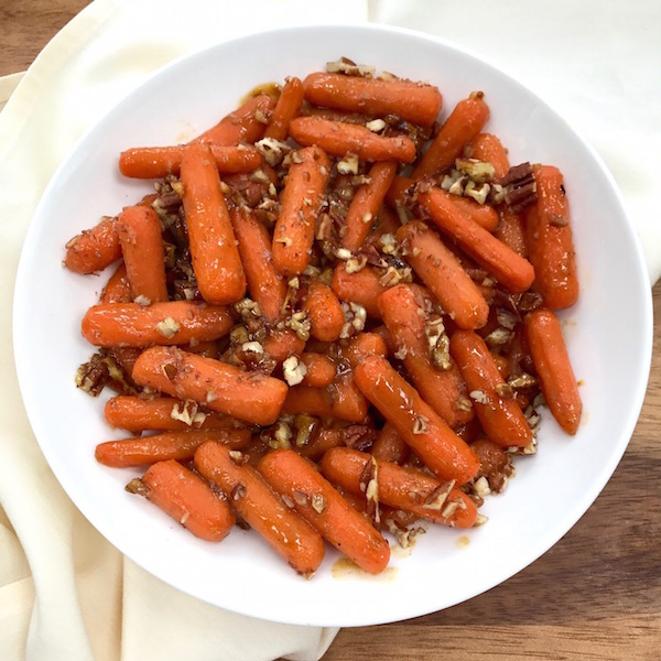 Glazed Spiced Baby Carrots with Pecans