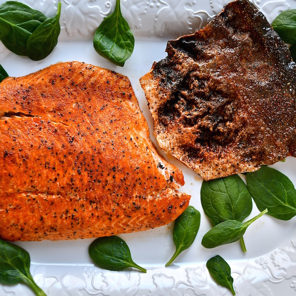 Spicy Roasted Salmon with Crispy Skin